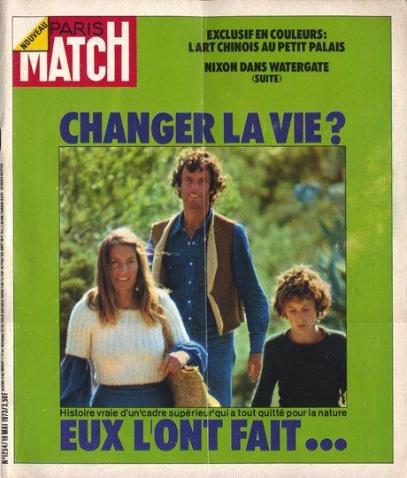 Paris-Match 19 mai 1973, Jacques Massacrier part avec sa famille pour changer de vie